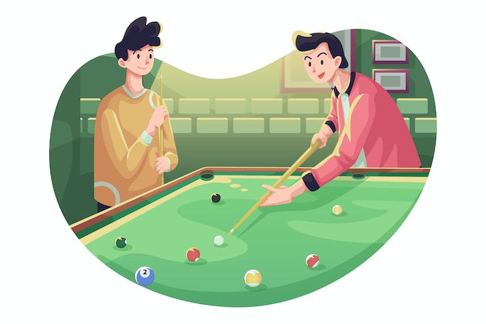 Billiard Pool Illustration