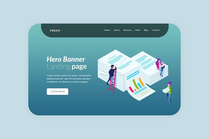Vrexo - Hero Banner Template