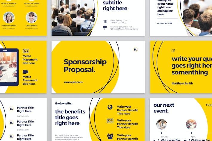 Thumbnail for Желтый и черный макет презентации