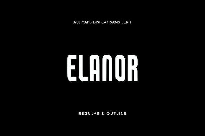Thumbnail for Elanor Display Sans Serif Regular Outline Font