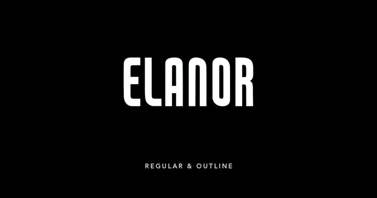 Download Elanor Display Sans Serif Regular Outline Font by maulanacreative