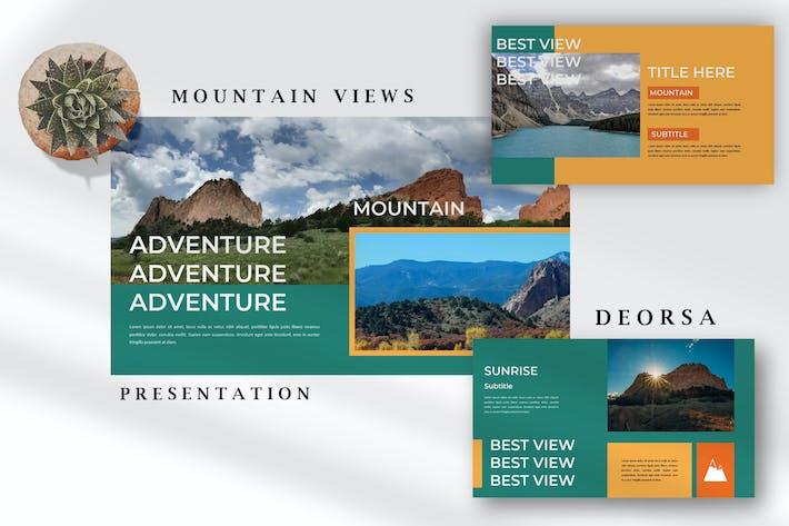 Вид на горы Деорса - Природа Google Слайды