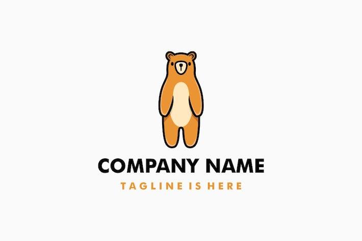 Thumbnail for Cute Bear Cartoon Logo