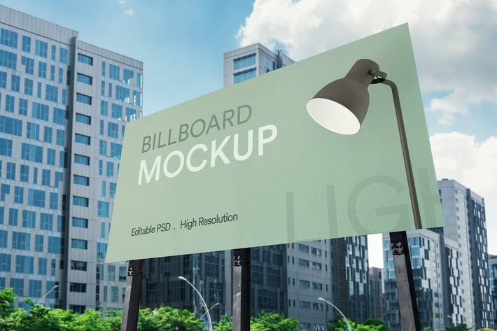 Cover Image For Advertisement Billboard Mockup Vol 02