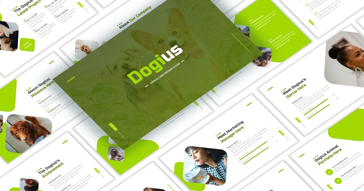 Download Dogius - Animal Care PowerPoint Template by CocoTemplates