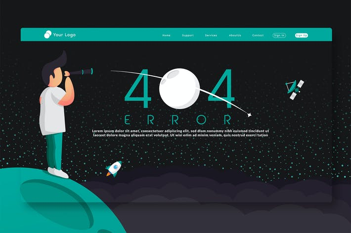 Thumbnail for 404 Error - Landing Page GR