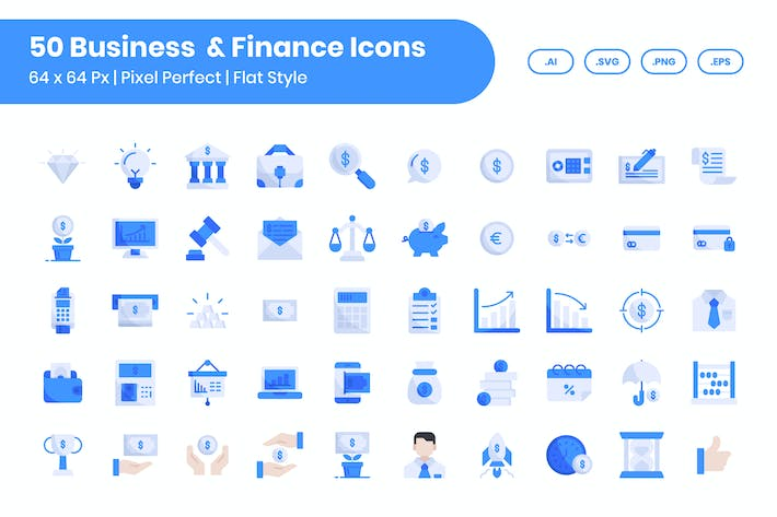 50 Business & Finance - Flat