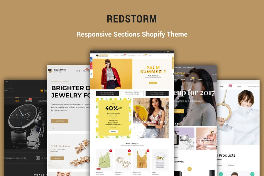 RedStorm - Sectioned Responsive Shopify Theme - product preview 0