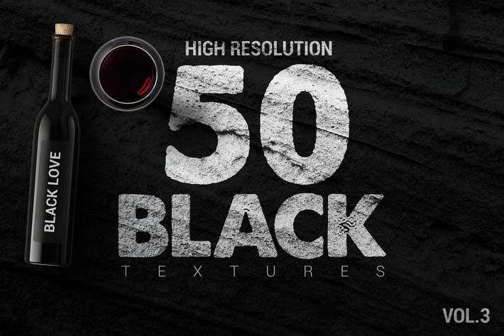 Cover Image For Bundle Black Textures Vol3 x50