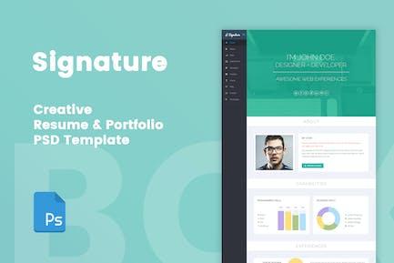 Signature - Creative Resume & Portfolio PSD Templa