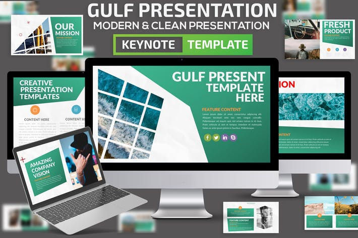 Cover Image For Gulf Keynote Presentation Template