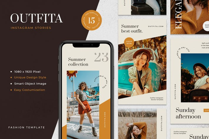 Cover Image For Outfita - Fashion Instagram Stories Template