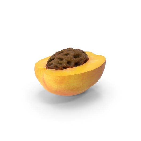 Halbierte Pfirsich