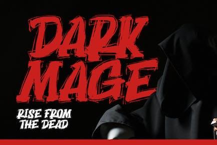 DS Dark Mage - Tipo de letra de miedo