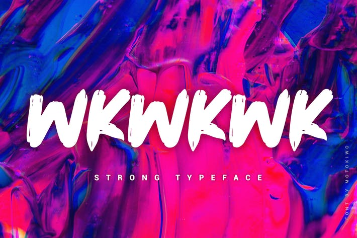 Thumbnail for Wkwkwk - Strong Bold Typeface