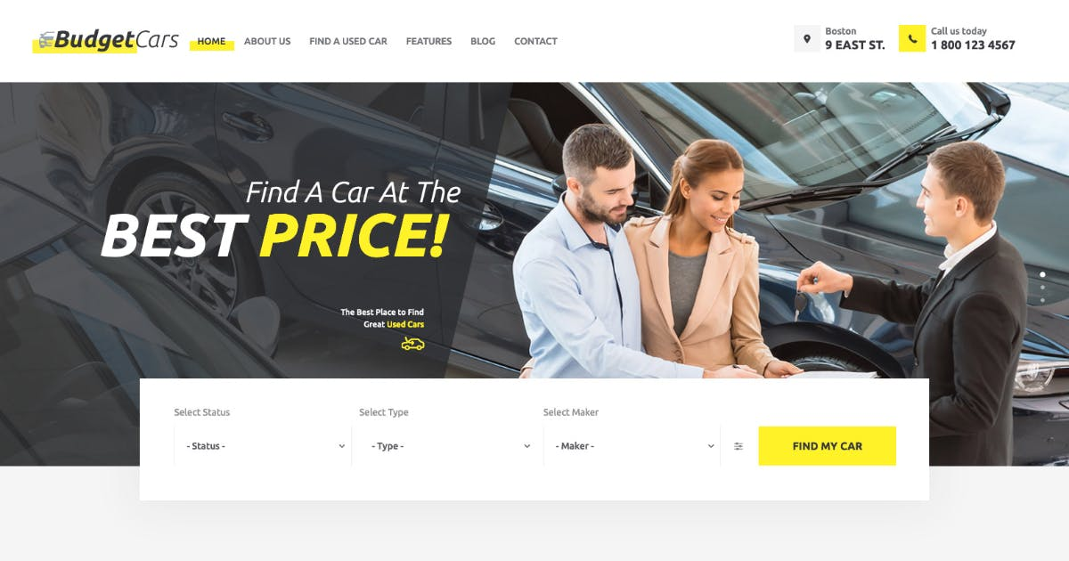 Download Budget Cars | Used Car Dealer & Store WordPress by AncoraThemes