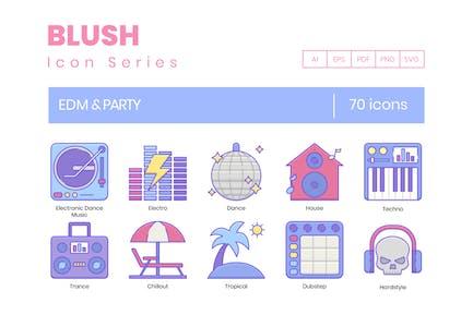 70 EDM & Party Line Icons