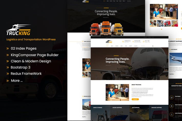 Thumbnail for Trucking - Logistics and Transportation WordPress