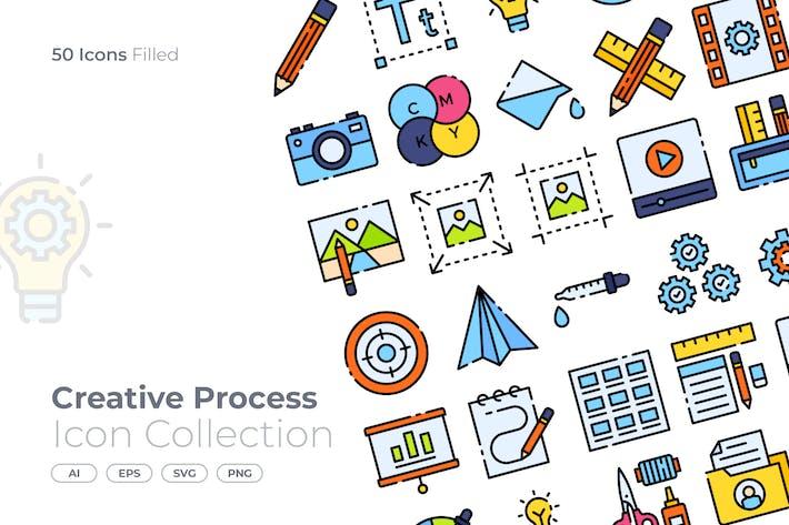 Kreativer Prozess gefüllt Icon