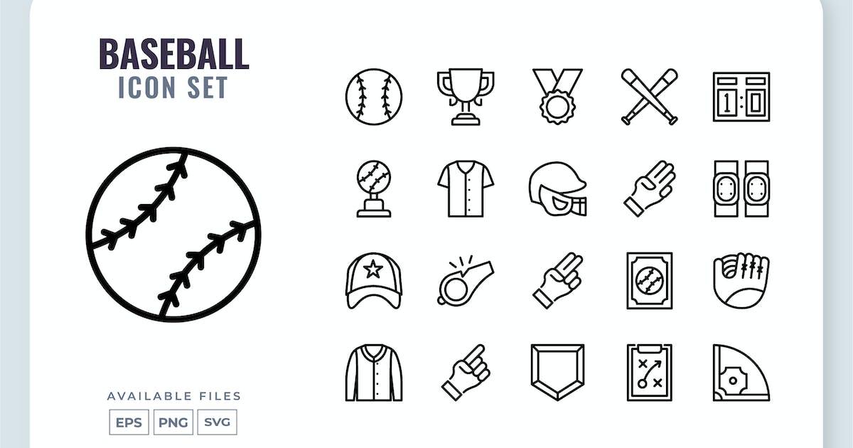 Download Baseball Line Icon Set by yellowline_std
