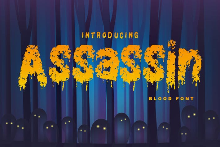 Thumbnail for Assassin | Decorative Blood Font