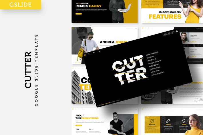 Thumbnail for Cutter - Google FolienVorlage