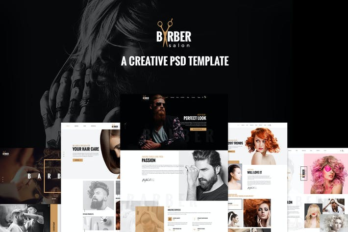 Thumbnail for Barber - A Creative PSD Template