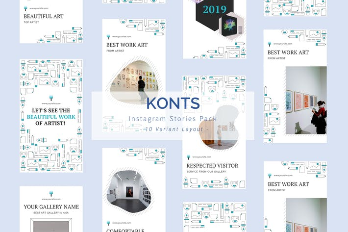 Thumbnail for Konst - Instagram Story Pack