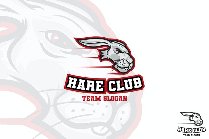 Thumbnail for Mascotte Lapin Sport Logo