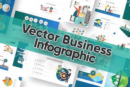 Plantilla de Powerpoint para Infografía de negocio