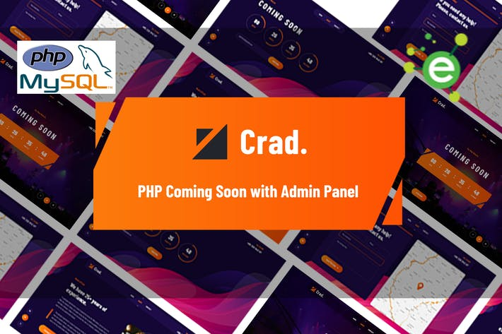 Thumbnail for Crad - PHP Coming Soon with Admin Panel