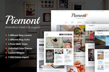 Piemont - Travel & Lifestyle WordPress Blog theme