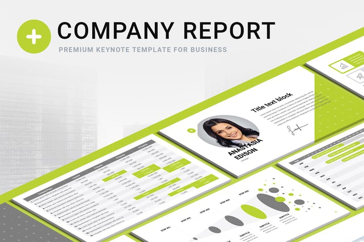 Thumbnail for Company Report Keynote Template