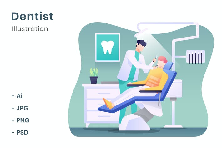 Thumbnail for Dentist Illustration