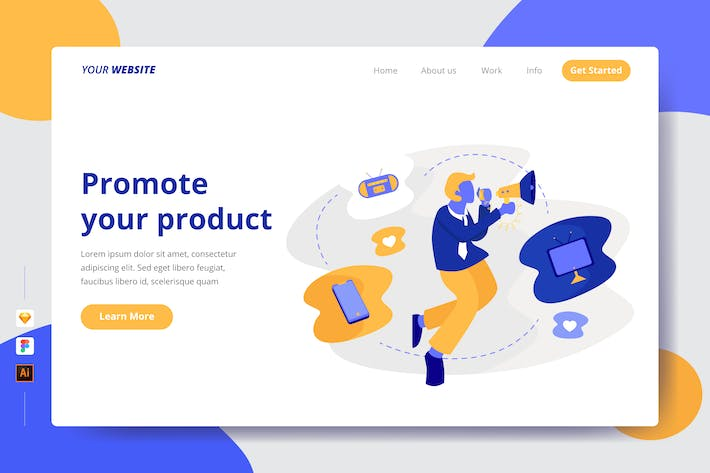 Thumbnail for Promote your product - Landing Page