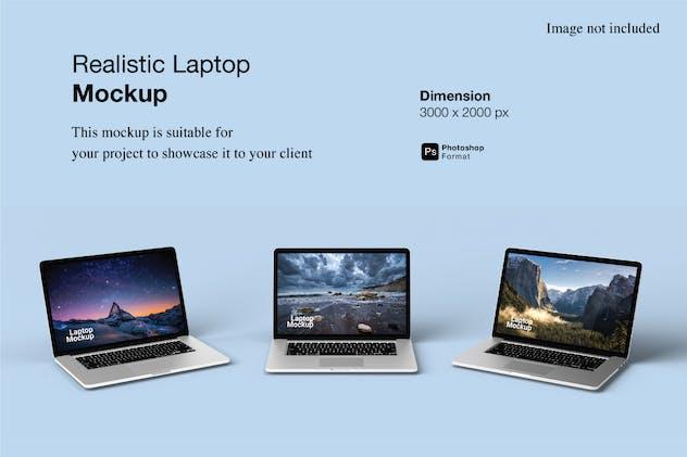 Realistic Laptop Mockup