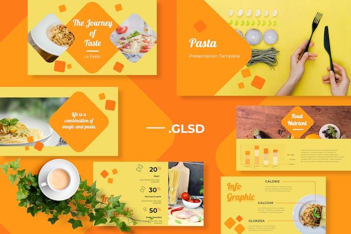 Cover Image For Pasta Restaurant Google Slides Presentation