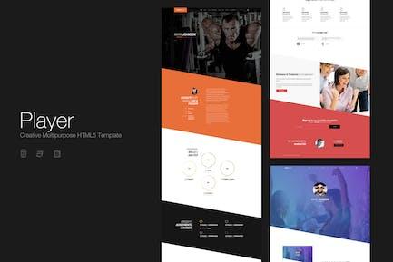 Player - Kreative Multipurpose HTML5-Vorlage