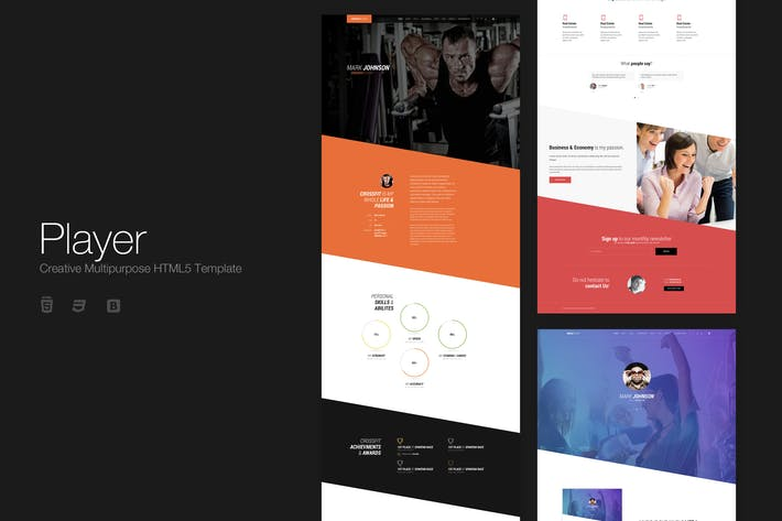 Thumbnail for Player - Creative Multipurpose HTML5 Template