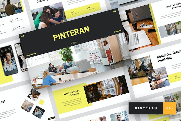 Thumbnail for Pinteran - Company Profile Google Slides Template