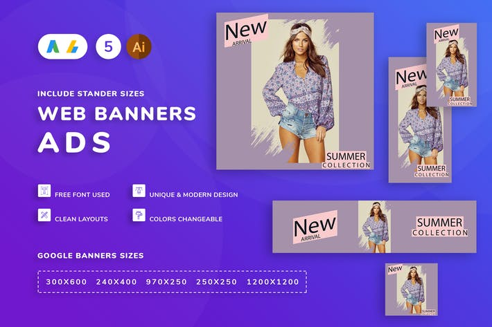 Thumbnail for Seals Women Clothes Banner Template