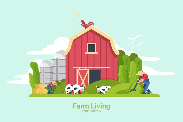 Thumbnail for Farm Living - Vector Illustration