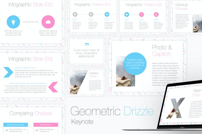 Thumbnail for Geometric Drizzle Keynote Template