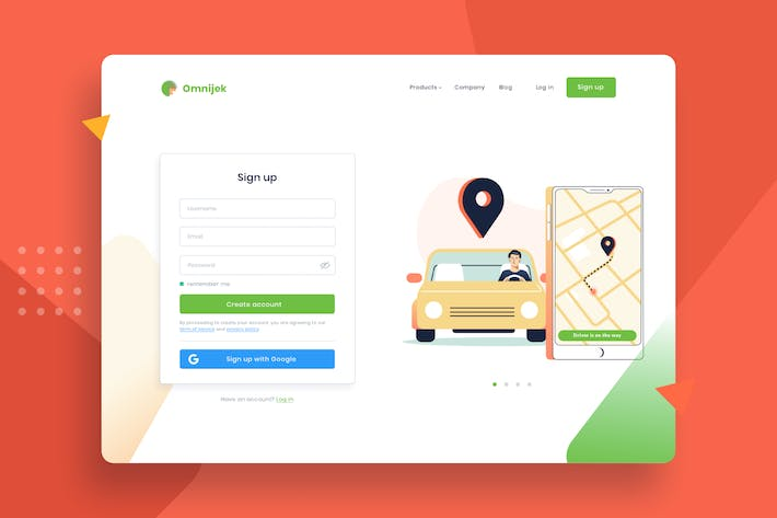 Thumbnail for Waiting for online taxi rent vector template