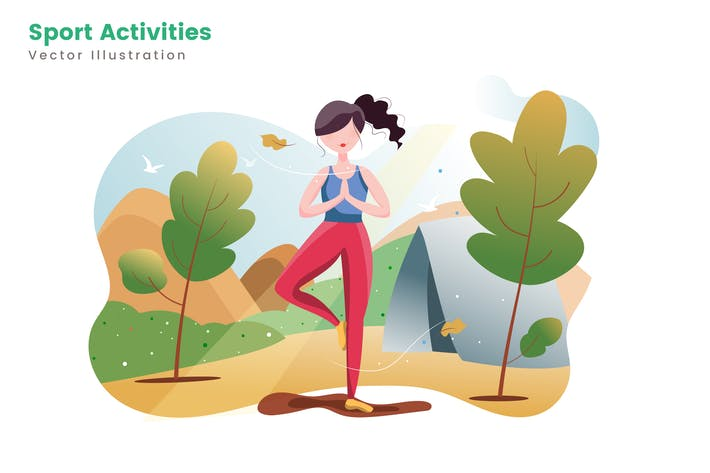Thumbnail for Sport Activities Vector Illustrations