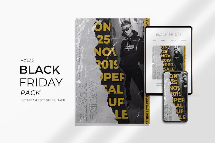 Thumbnail for Black Friday Plastic Flyer and Instagram Vol. 15