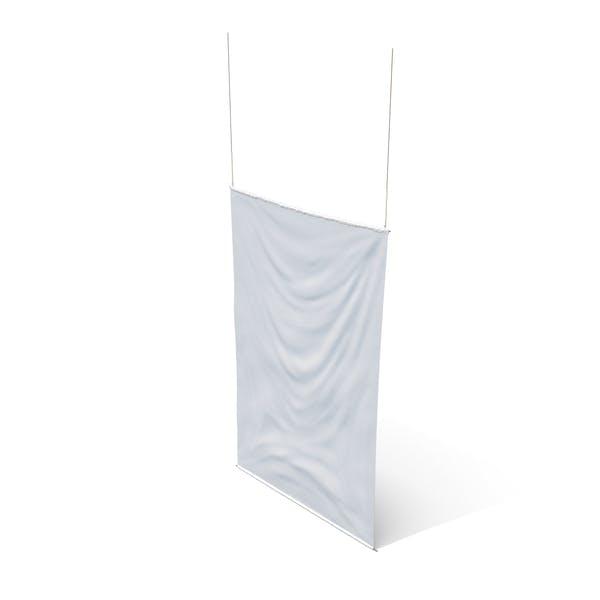 Rippling Banner Vertical White