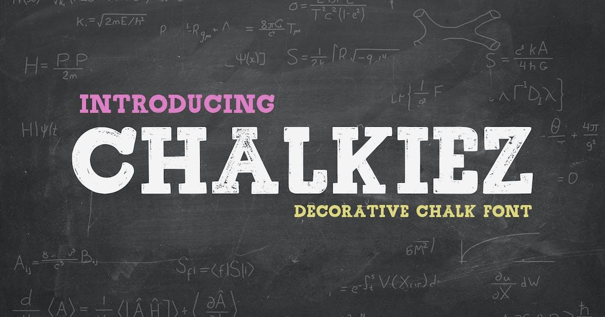 Download Chalkiez - Font by Blesstudio