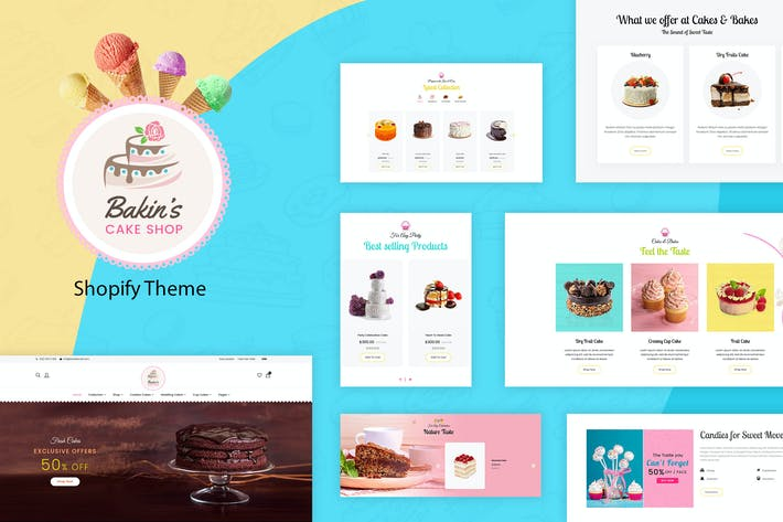 Thumbnail for Bakins | Cake Shopify Theme