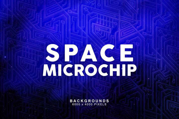 Thumbnail for Space Microchip Backgrounds 2